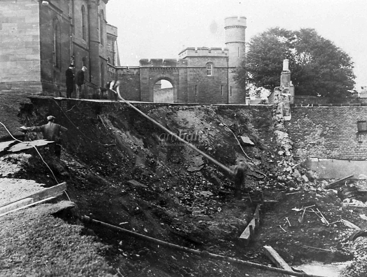 Landslide Inverness Castle 1930s
