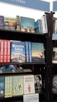 Sandstone shelf at EIBF bookshop