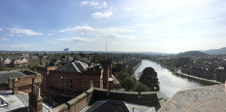 Inverness from castle viewpoint