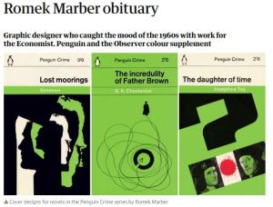 Romek Marber Guardian obituary headline with pictures