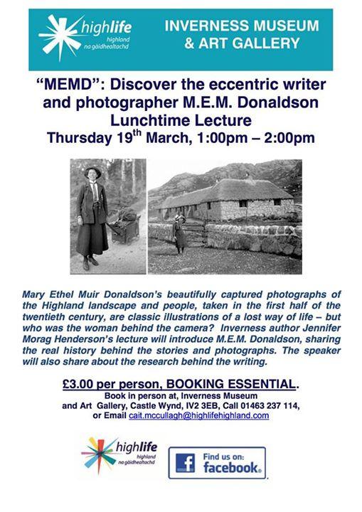 MEM Donaldson talk at Inverness Museum
