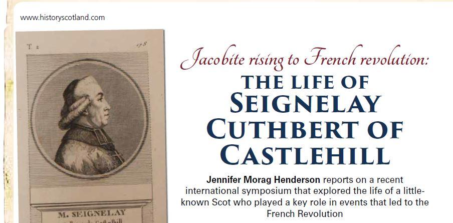 headline from Castlehill History Scotland article